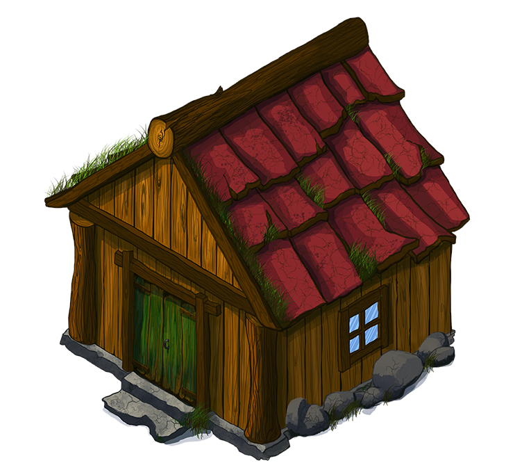 Free Simple Wooden House Clip Art.