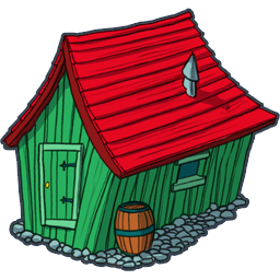 The wooden house clipart #12