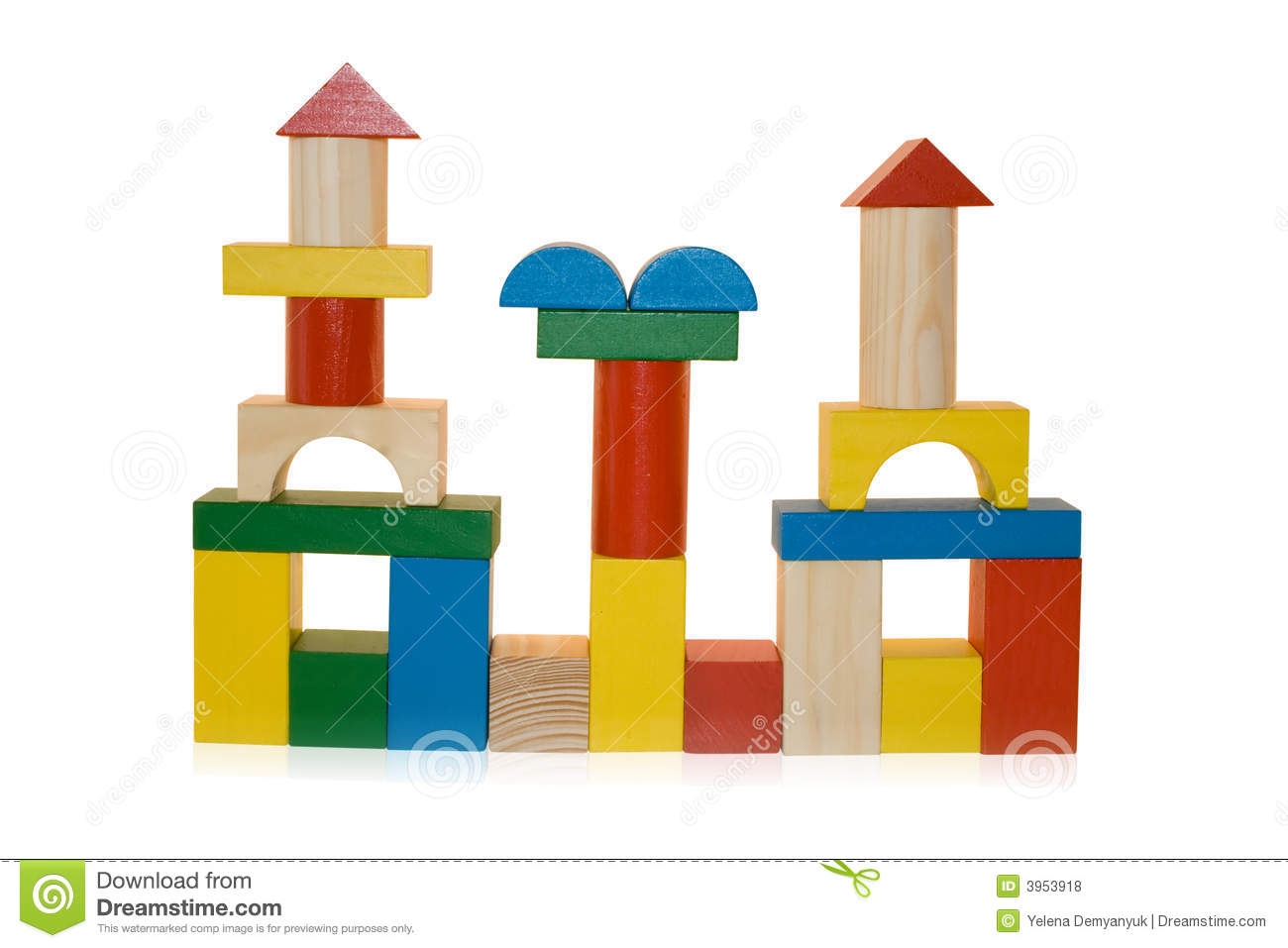 Tower Out Of Building Blocks For Kids