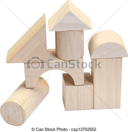Wooden building block Stock Illustrations. 2,268 Wooden building.