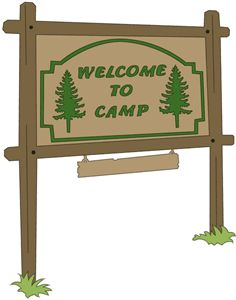 Camp Sign Clipart.