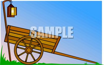 Royalty Free Clip Art Image: Wooden Cart.