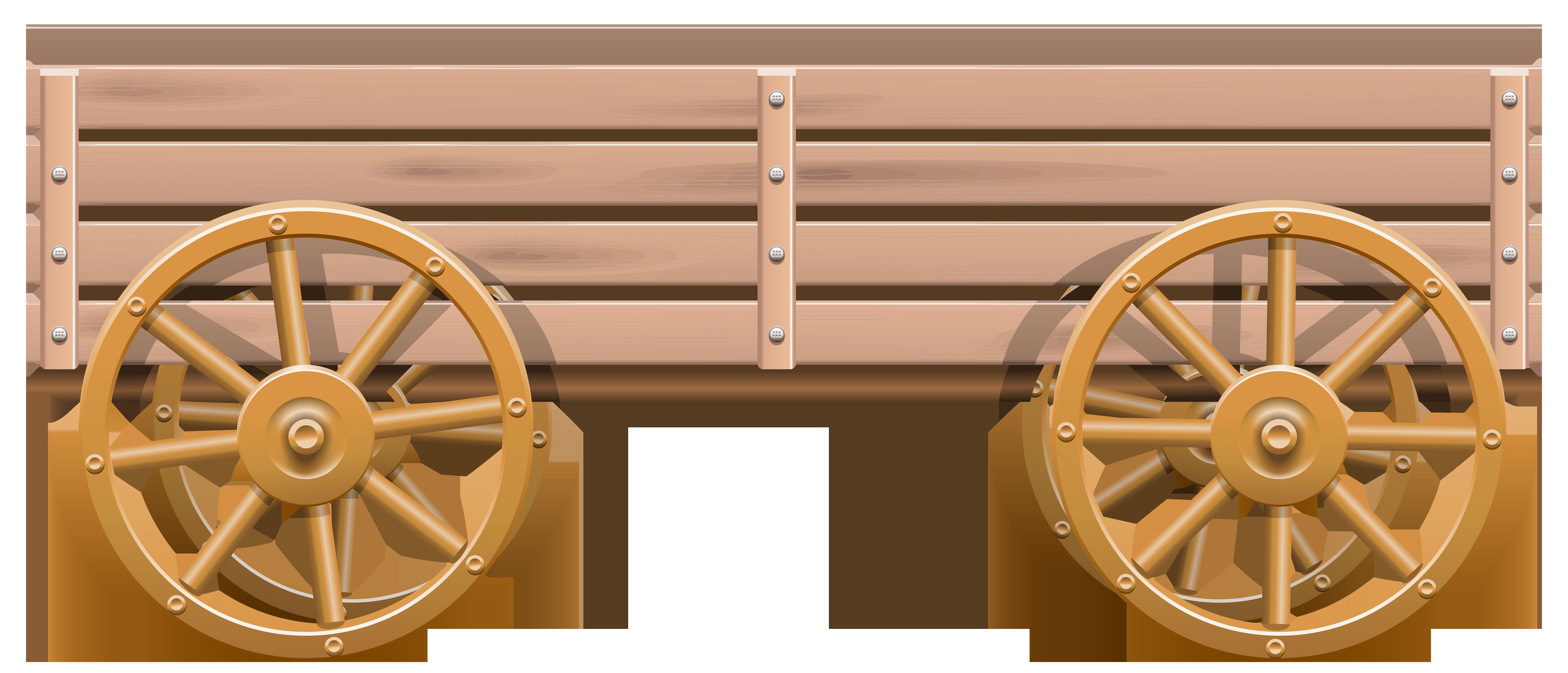 Wooden Cart PNG Clip Art.