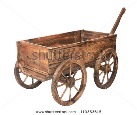Vintage Wooden Cart Stock Photos, Royalty.