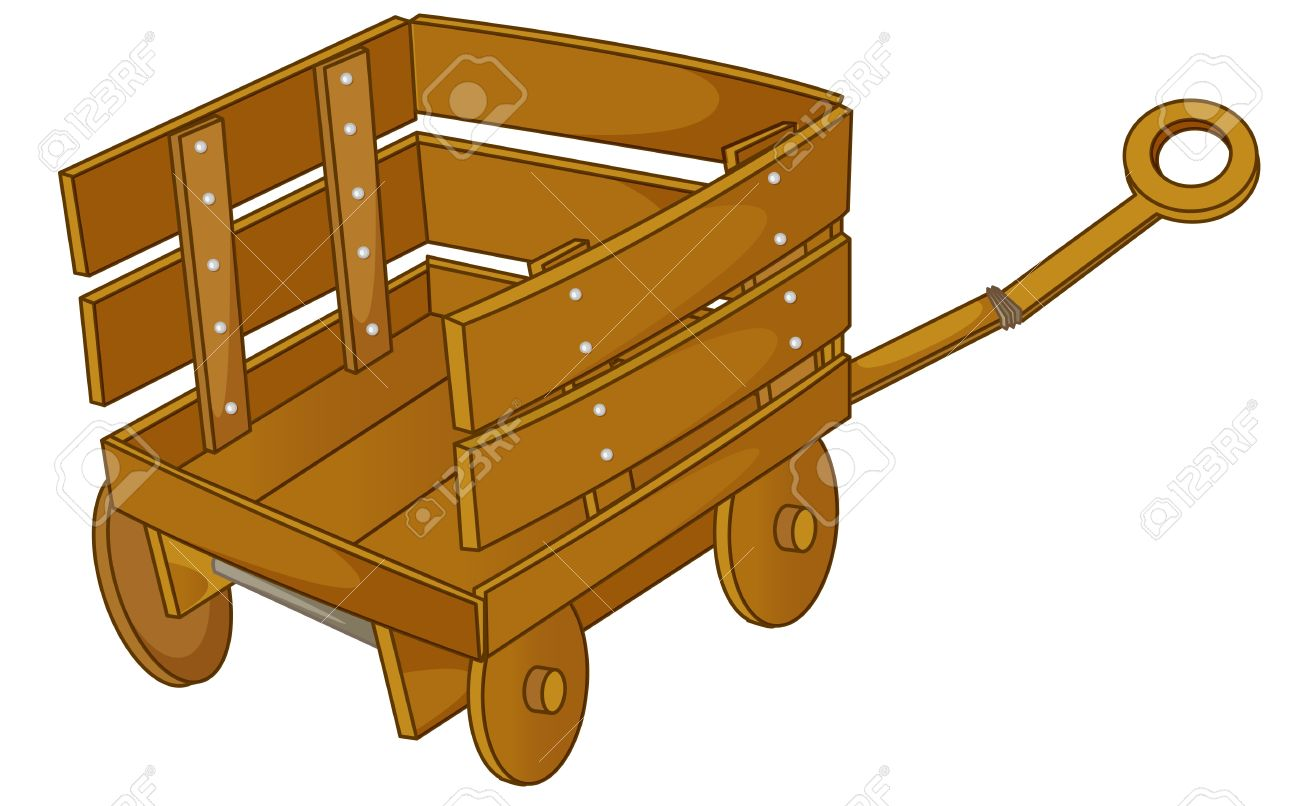 Clipart Style Cartoon Of A Cart Royalty Free Cliparts, Vectors.