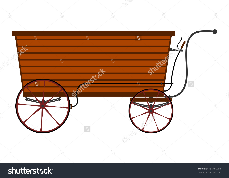 Vintage Wooden Vendors Cart Stock Vector 138760751.
