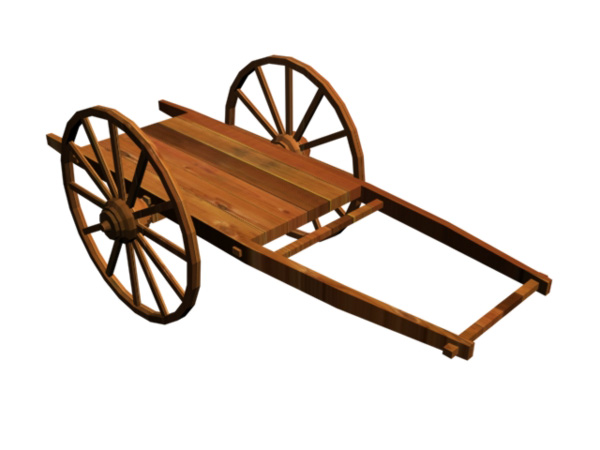 Wooden Wagon Clipart.