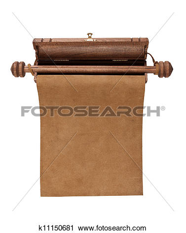 Stock Photo of wooden case for the scrolls and manuscripts.