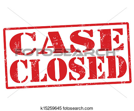 Clipart case closed.