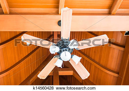 Pictures of Classical wood ceiling fan with white glass lamps.