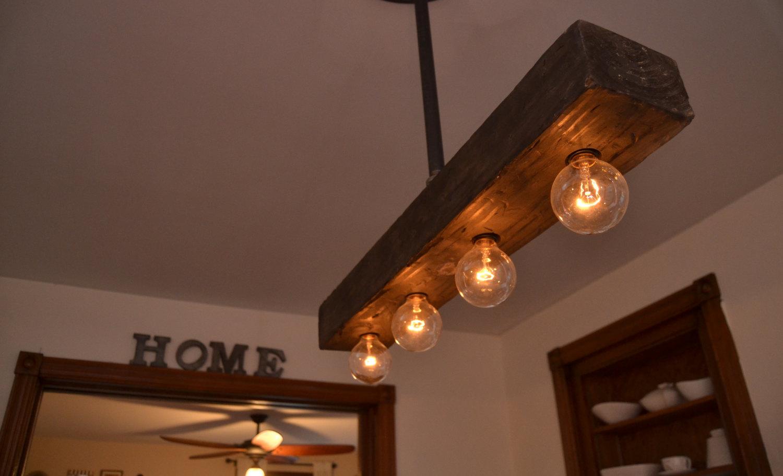 Rustic chandelier.