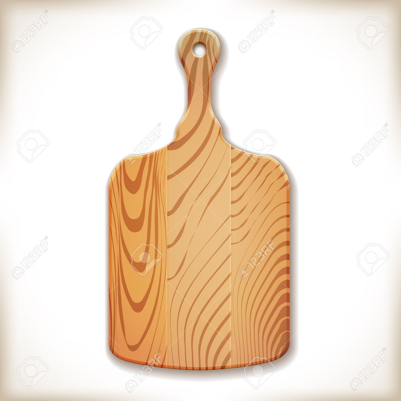 Vector Wood Cutting Board Isolated On White Royalty Free Cliparts.