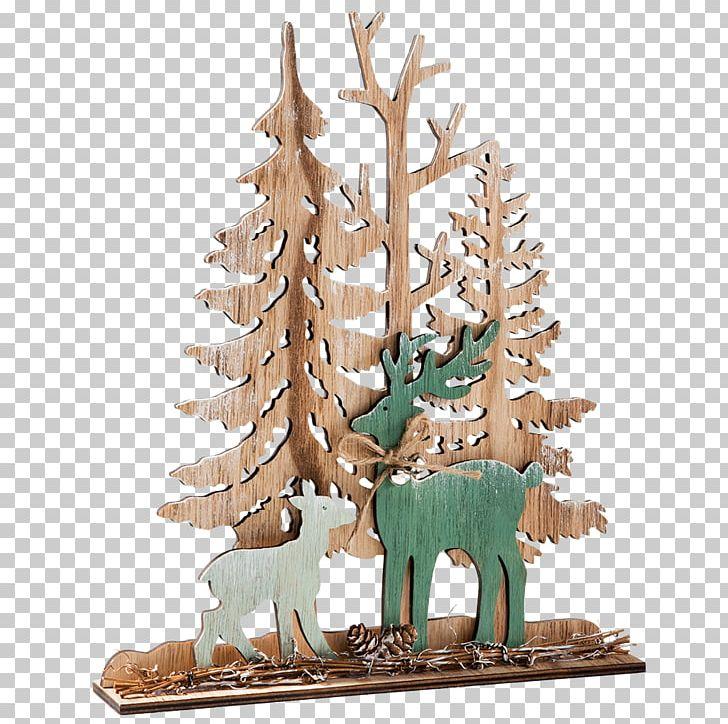Christmas Tree Reindeer Christmas Ornament Wood PNG, Clipart.