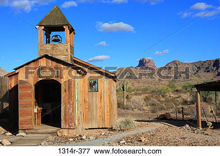 Picture of USA, Arizonam, Wooden church in Castle Dome ghost town.