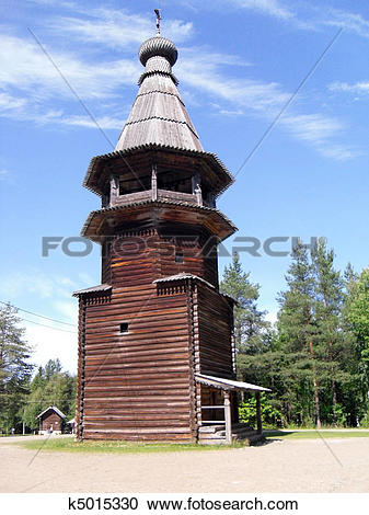 Stock Photography of Wooden Church k5015330.