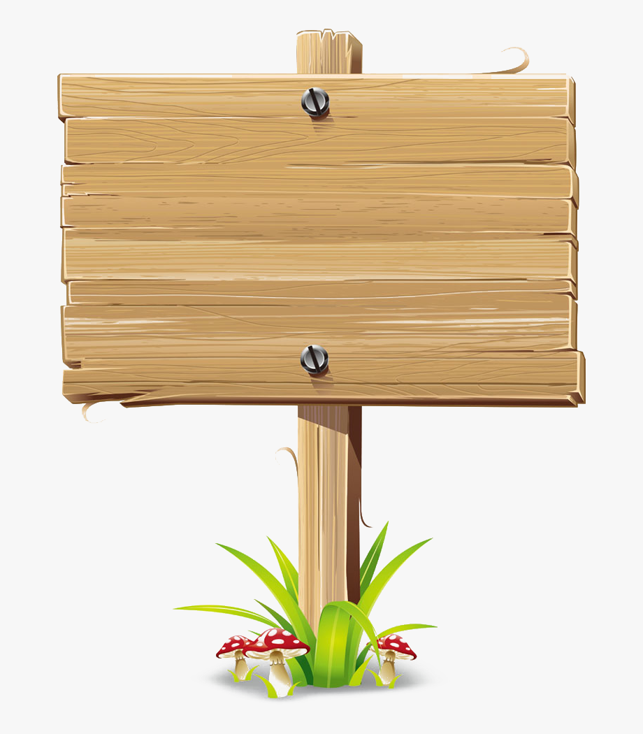 Wood Sign Billboard Clip Art.