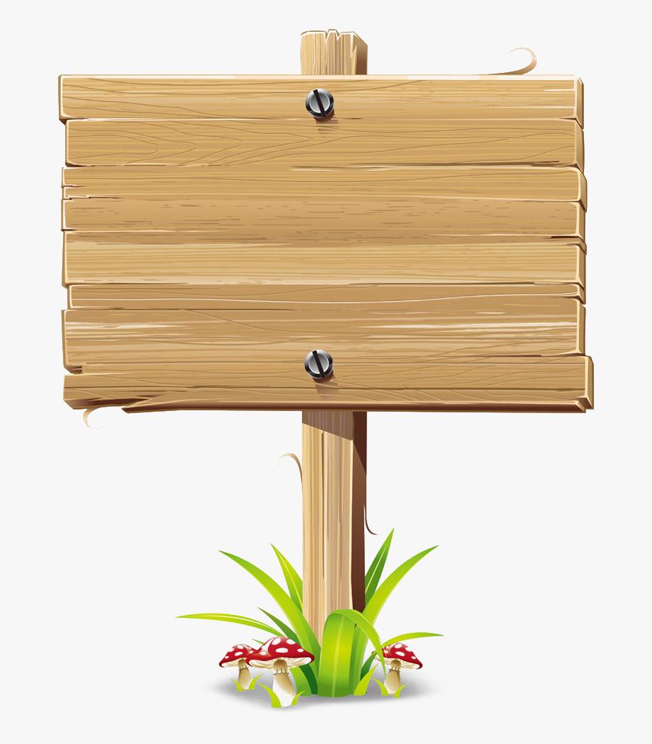 Wood Sign Billboard Clip Art.