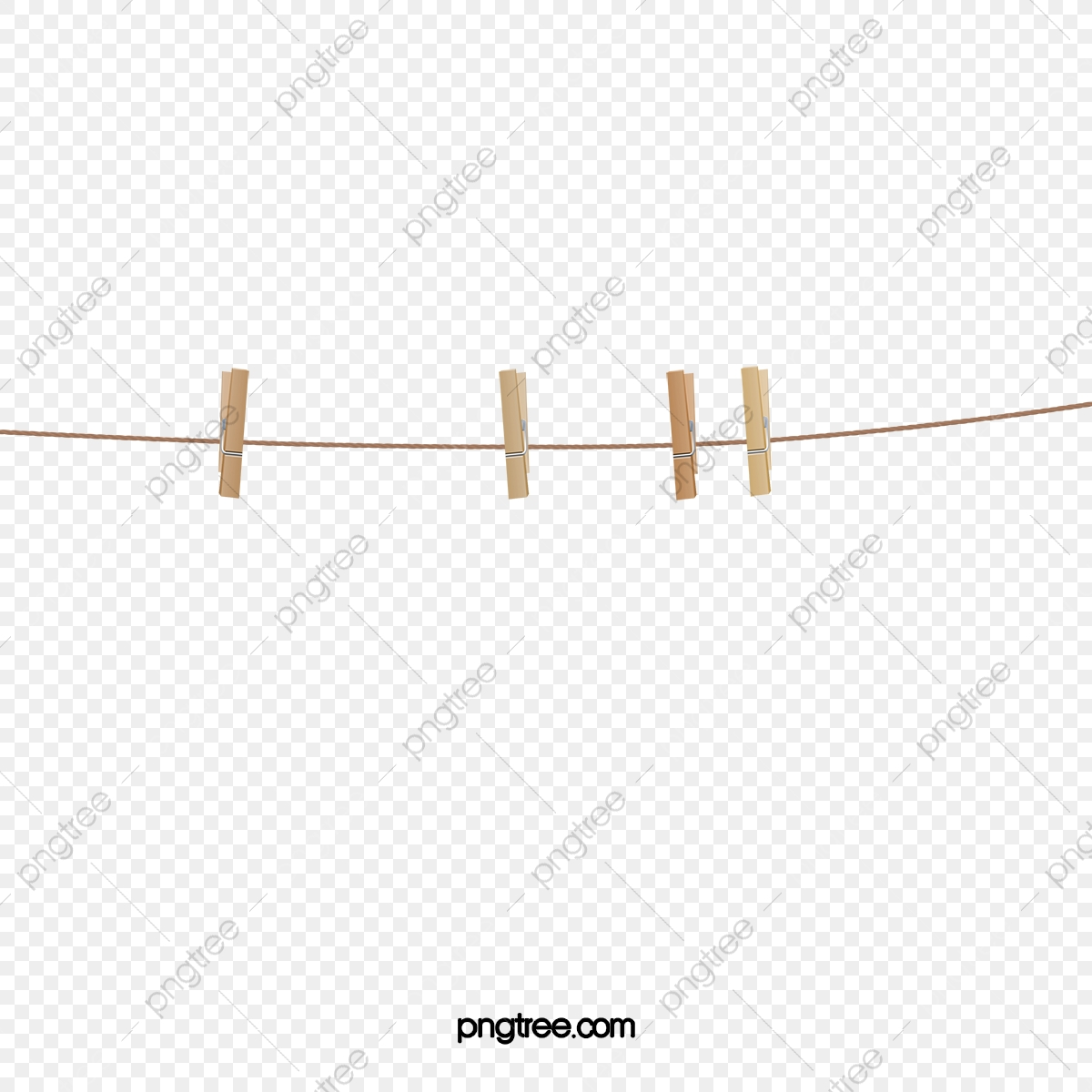 Brown Wooden Rope Clips, Rope Clipart, Brown Rope, Brown.