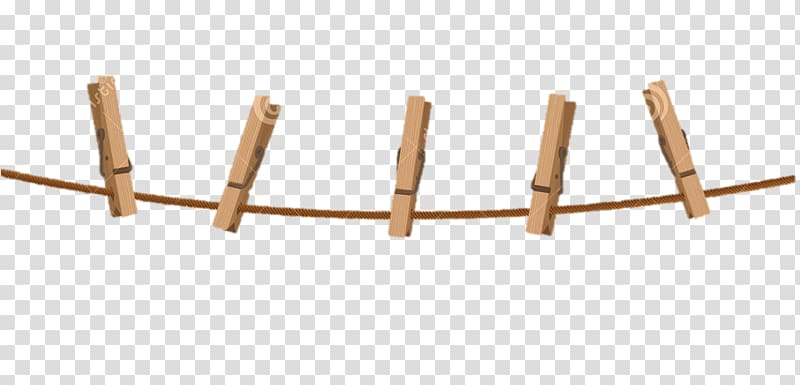 Five brown clothespins, Clothespin Clothes line, clean cloth.