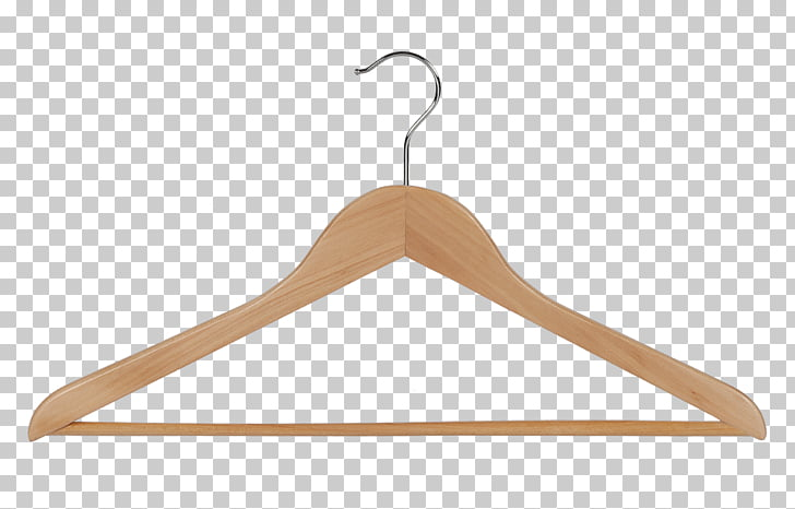 Clothes hanger Clothing Wood Coat Top, wooden hanging PNG.