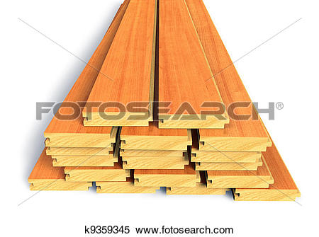 Stock Image of Stacked wooden construction planks k9359345.