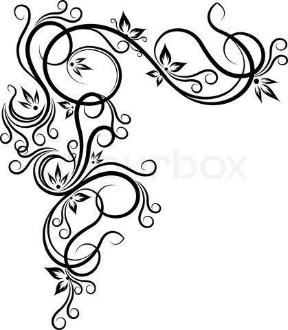 decorative scrolls.