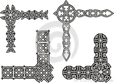 Celtic knot corners and borders.