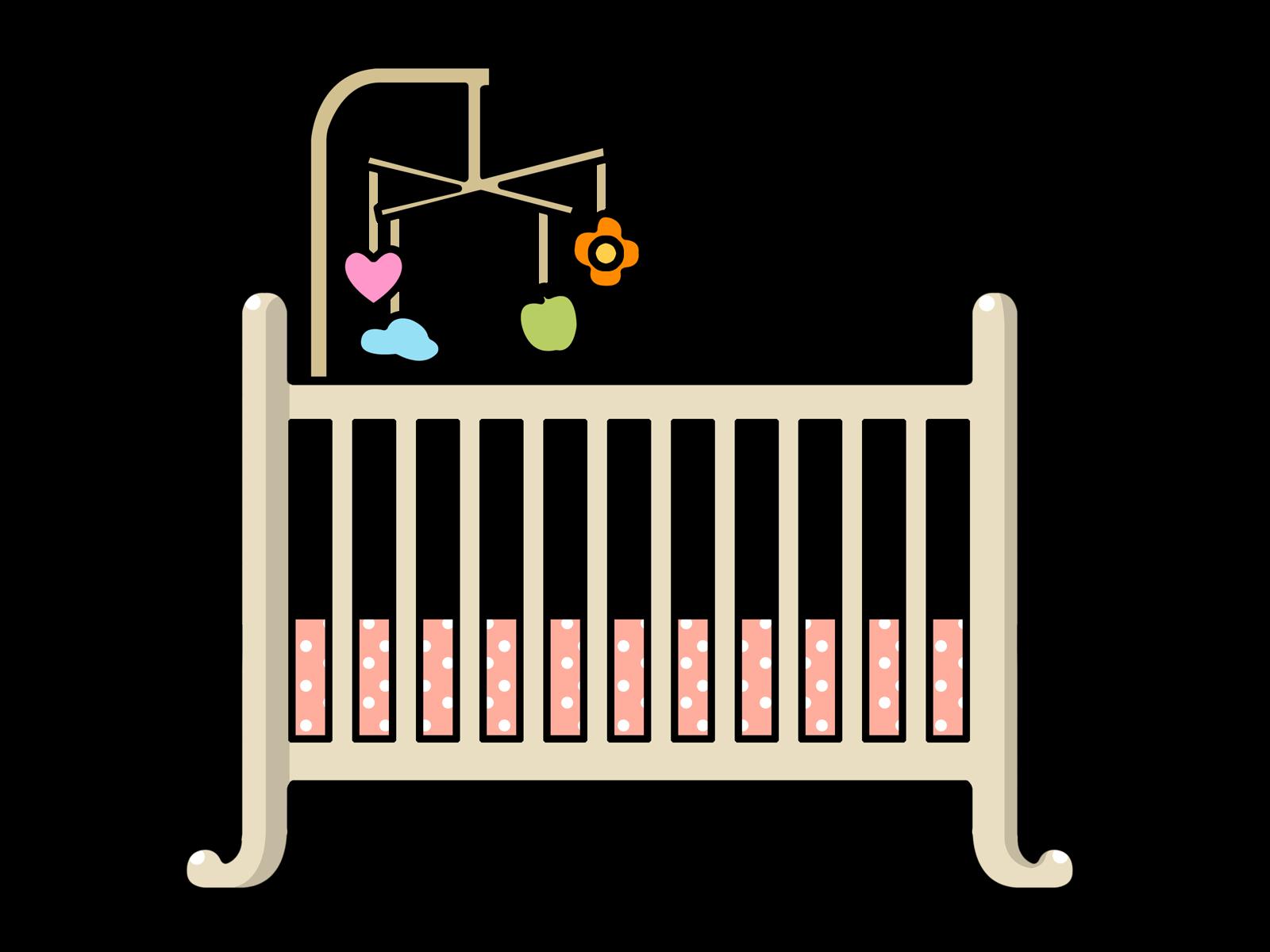 Baby crib clipart free.