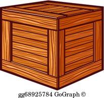 Wooden Crate Clip Art.