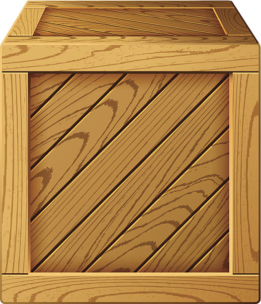 Best Wood Crate Illustrations, Royalty.