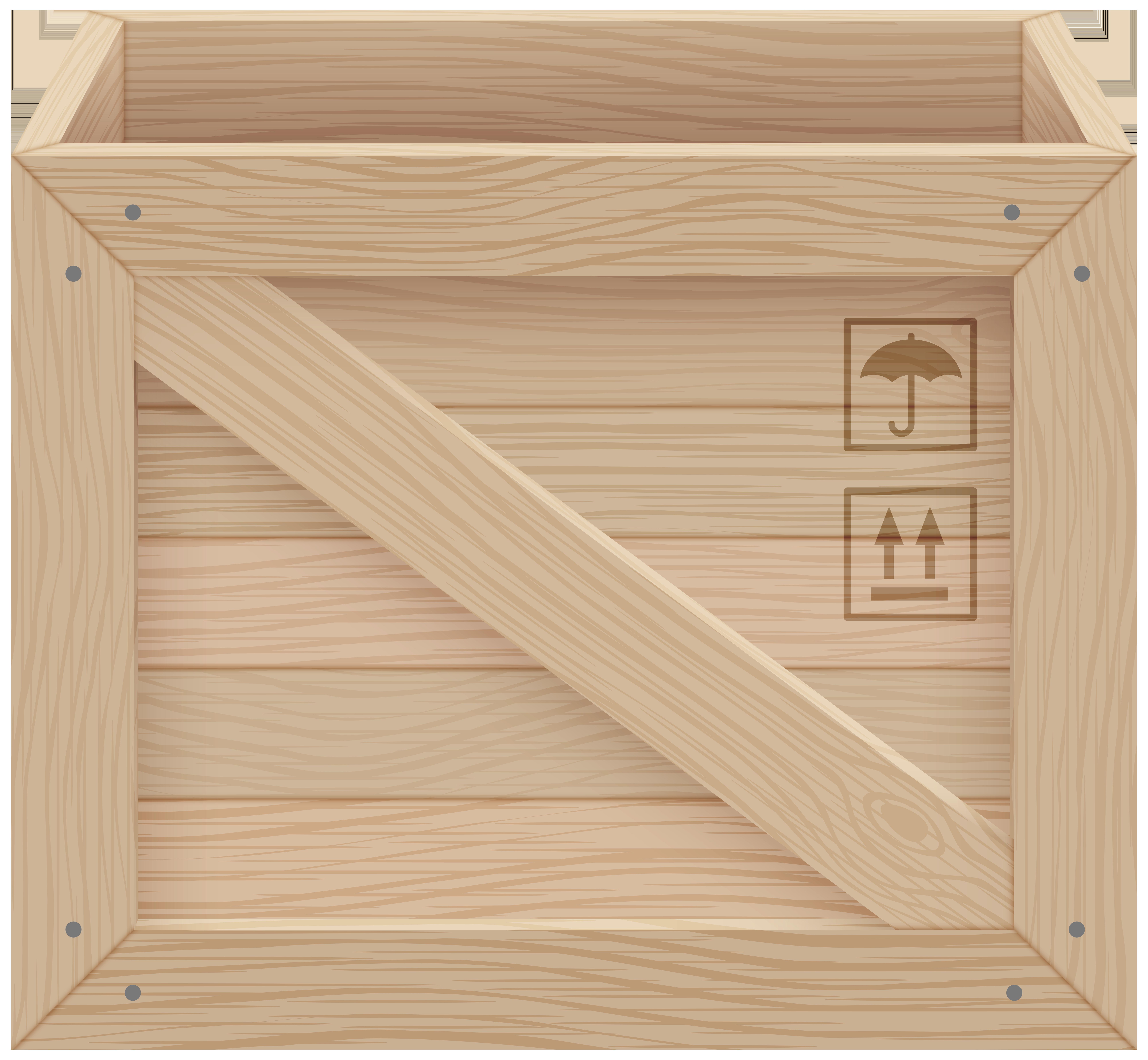 Wooden Crate PNG Clip Art.