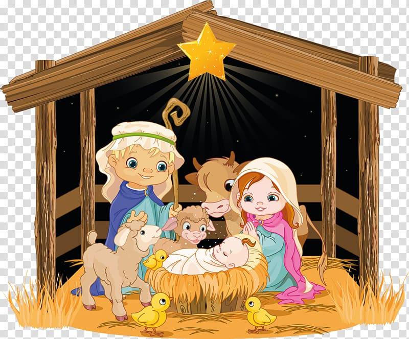 Wooden creche clipart Transparent pictures on F.