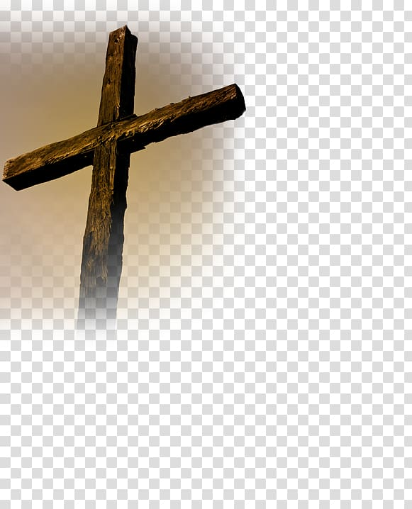 Brown wooden cross illustration, Crucifix Christian cross.