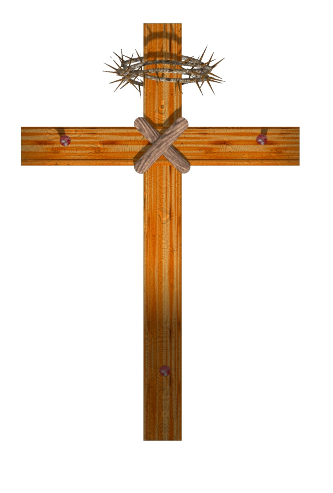 Wood Cross with Thorns 16 Trendy Bible Educational Clip Art.