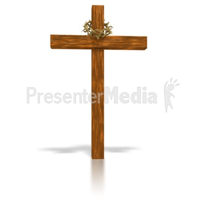 Wooden Cross and crown.