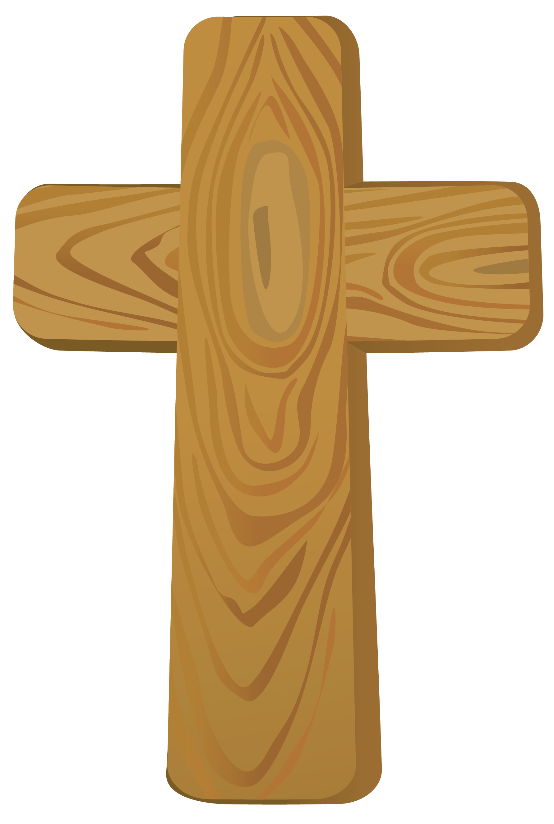 Wooden Cross PNG Clipart Picture.