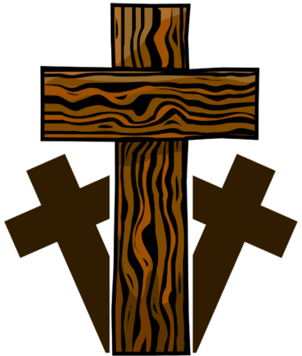 Image: Three Wooden Crosses.