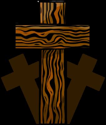 Image: Three Wooden Crosses.