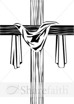 Wooden Cross Clip Art.