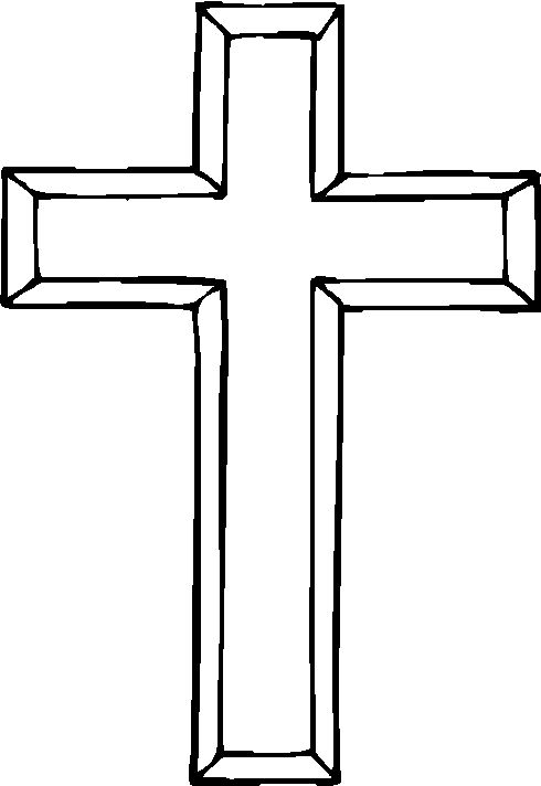 Wooden Cross Clipart Black And White (97+ images in.