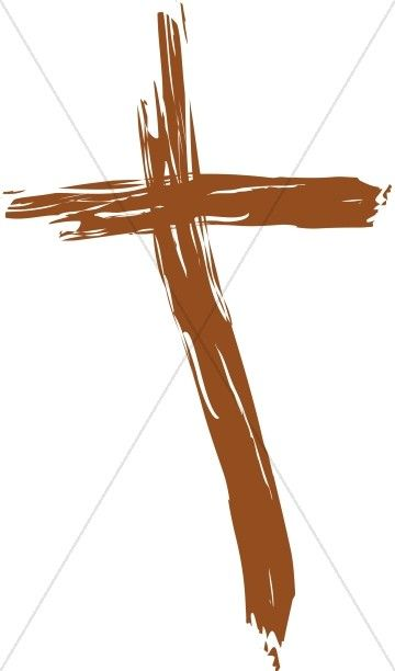Painted Wooden Cross.
