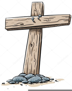 Old Wooden Cross Clipart.
