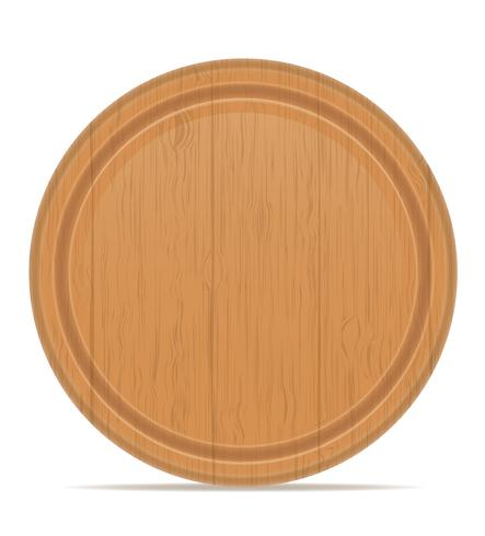 wooden cutting board vector illustration.