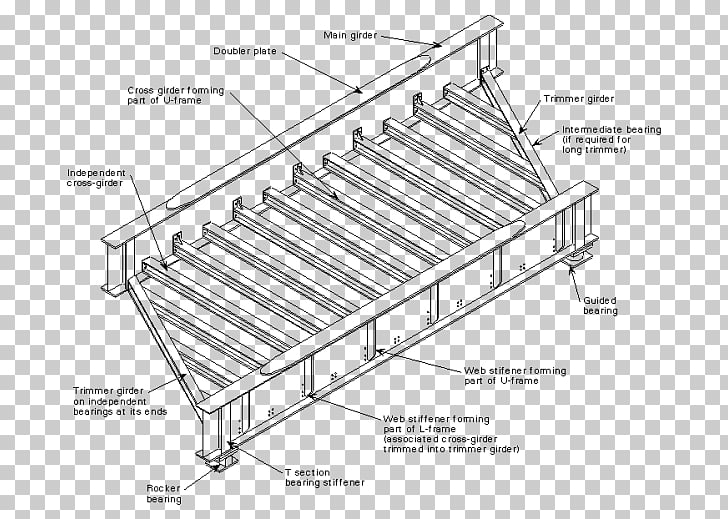 Plate girder bridge Deck Beam bridge, wood ladder PNG.