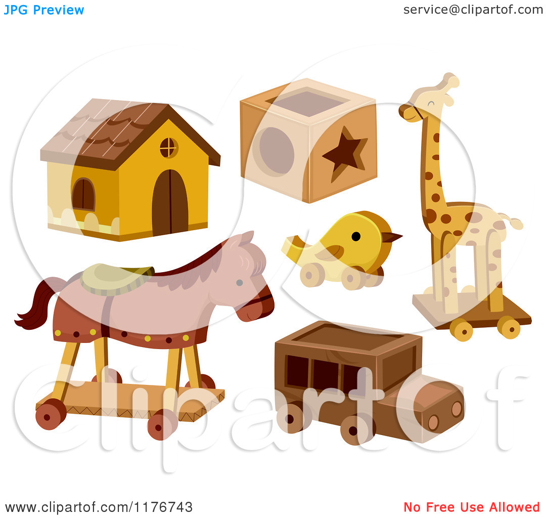 Cartoon of Wooden Toys.