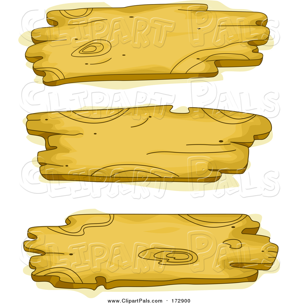 Pal Clipart of Three Wooden Signs by BNP Design Studio.