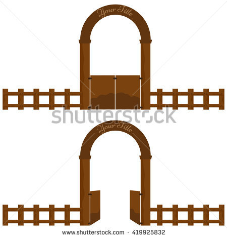 Farm Gate Stock Photos, Royalty.