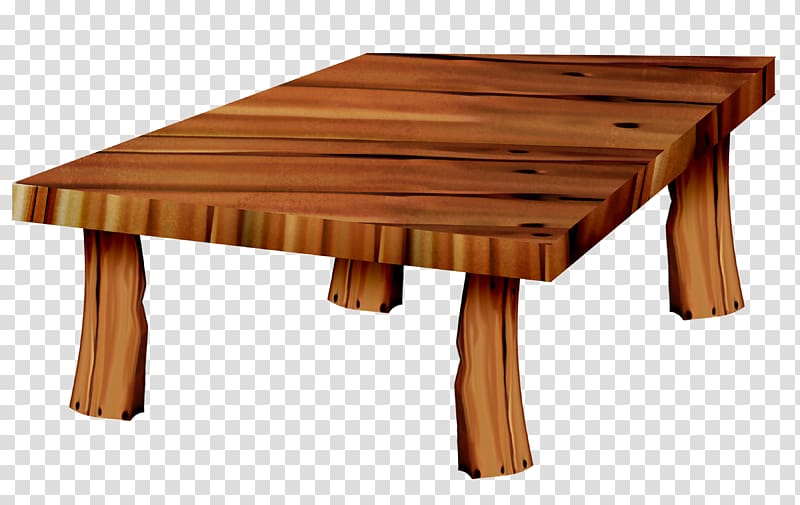 Coffee table Wood , Wooden table transparent background PNG.