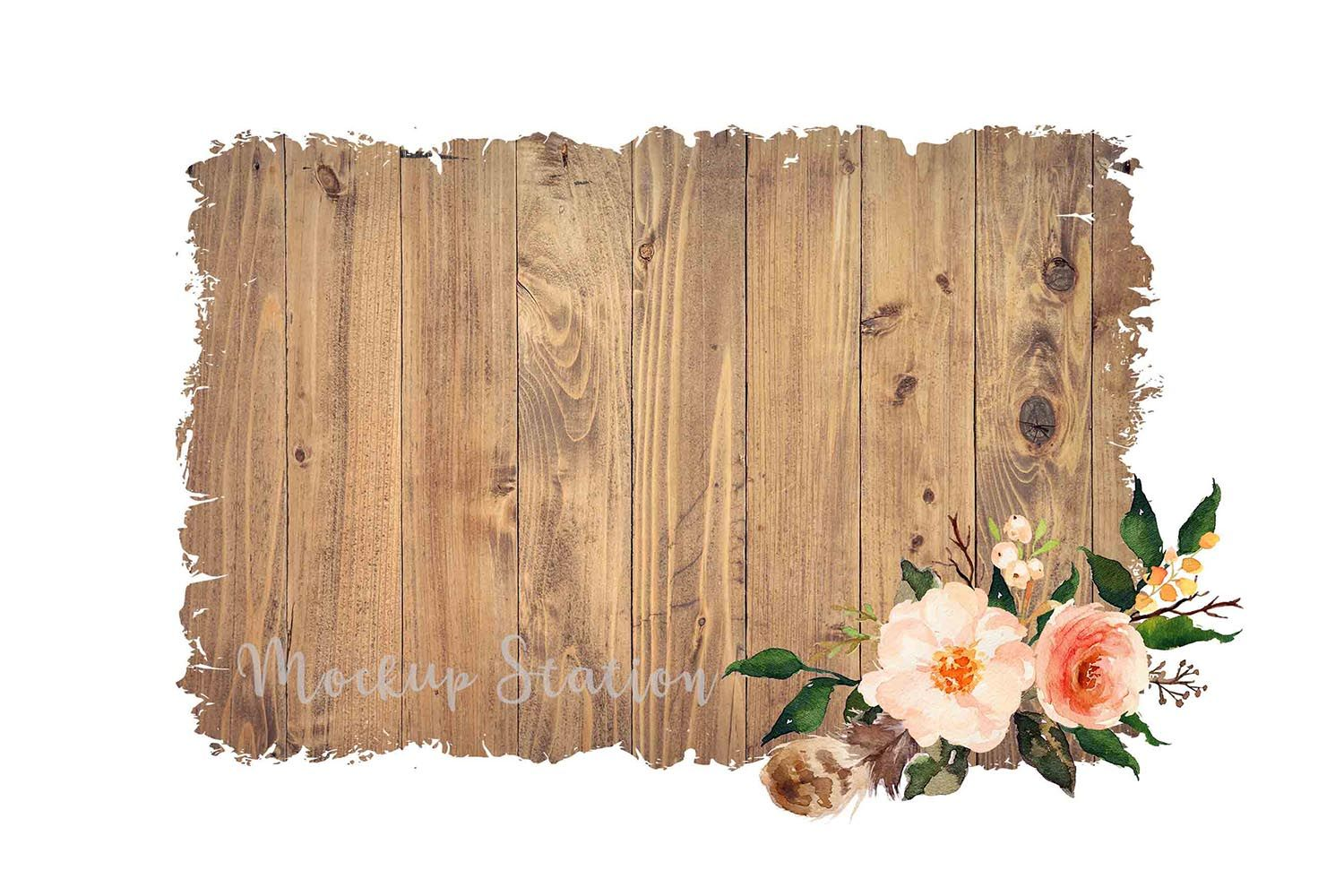 Sublimation Wood Background PNG Bundle, Frame Clip Art Splat.