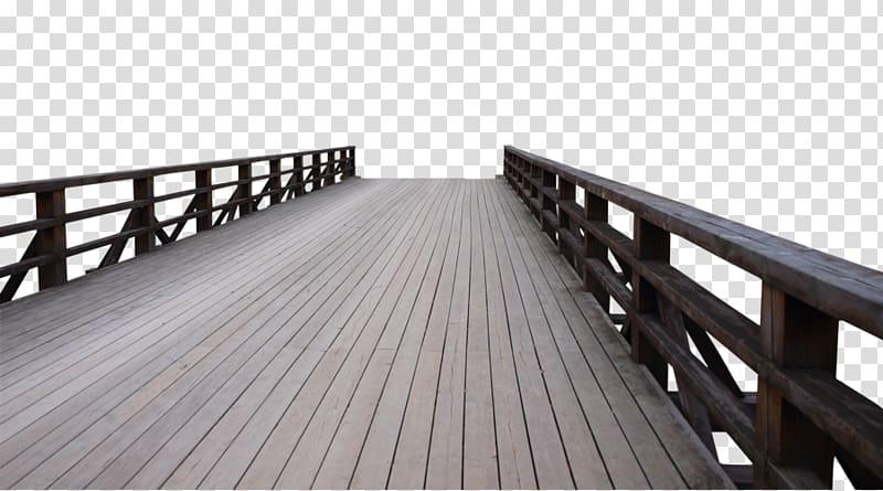 Brown wooden dock illustration, Bridge , Dock bridge.